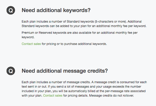 TextMarks Additional Pricing Options