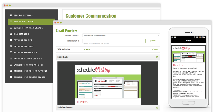 Customer Communication Screenshot